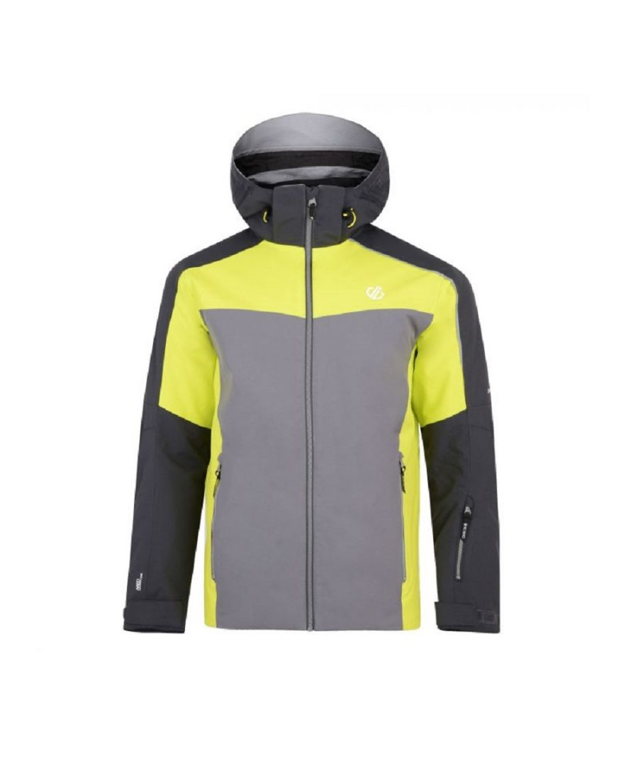 Image for Dare 2b Mens Intermit Ski Jacket (Ebony/Citron)