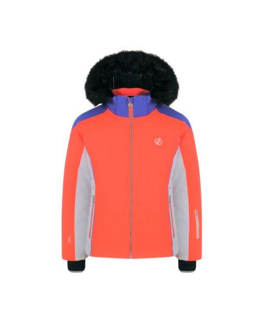 Image for Dare 2b Girls Vast Ski Jacket (Fiery Coral/Simple Purple)