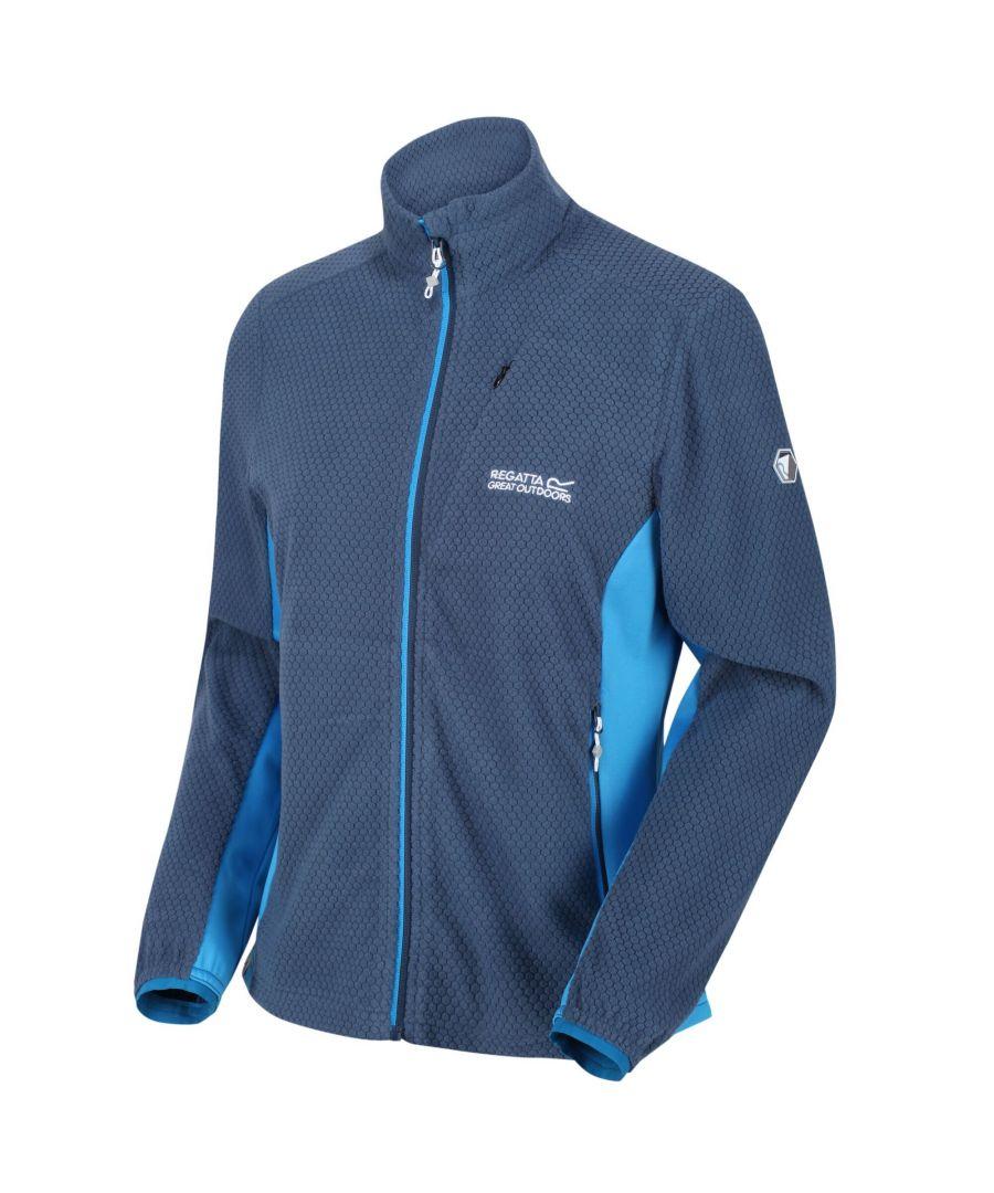 Image for Regatta Womens/Ladies Highton Full Zip Fleece Jacket (Dark Denim/Blue Aster)