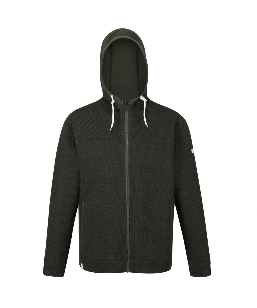 Image for Regatta Mens Laszlo Full Zip Hooded Fleece