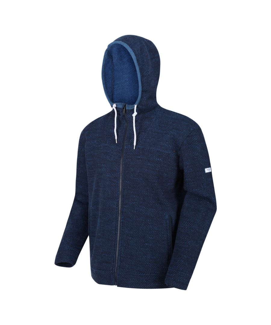 Image for Regatta Mens Laszlo Full Zip Hooded Fleece