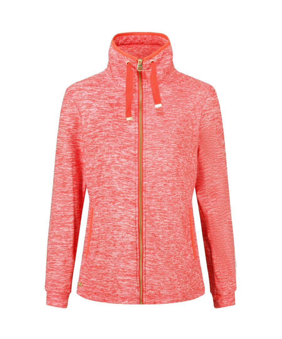 Image for Regatta Womens/Ladies Evanna Full Zip Lightweight Fleece (Red Sky)