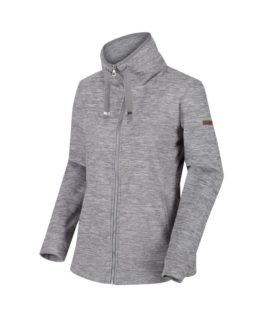 Image for Regatta Womens/Ladies Evanna Full Zip Lightweight Fleece (Rock Grey)