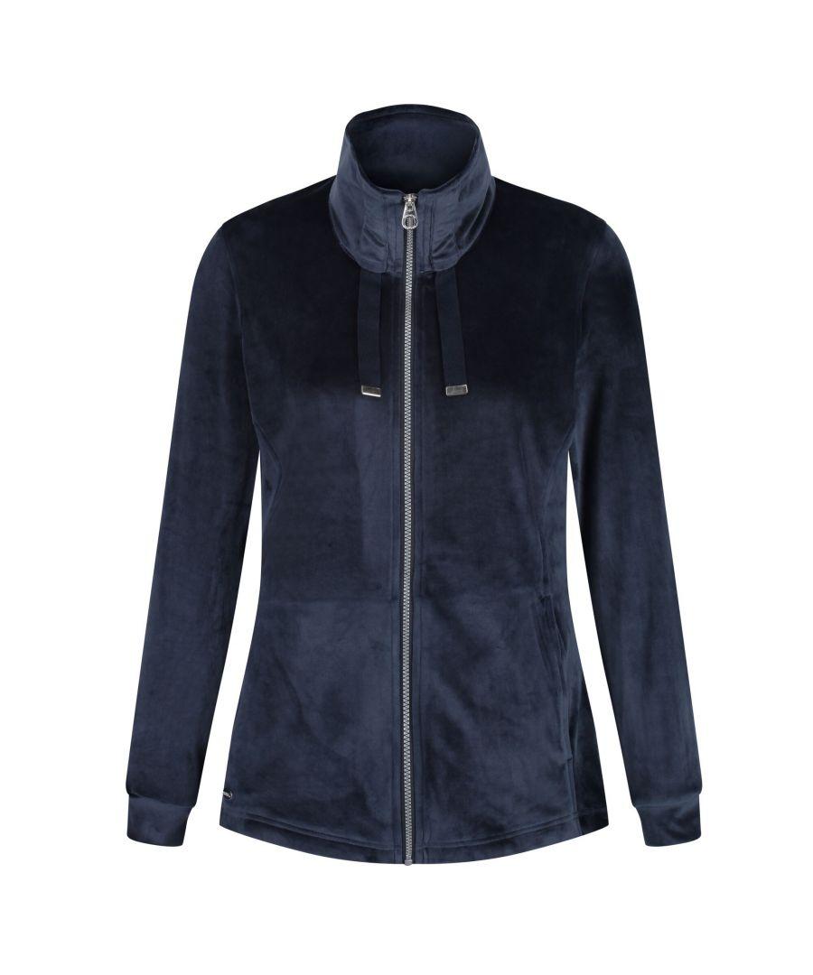 Image for Regatta Womens/Ladies Odelia Full Zip Heavyweight Fleece (Navy Velour)