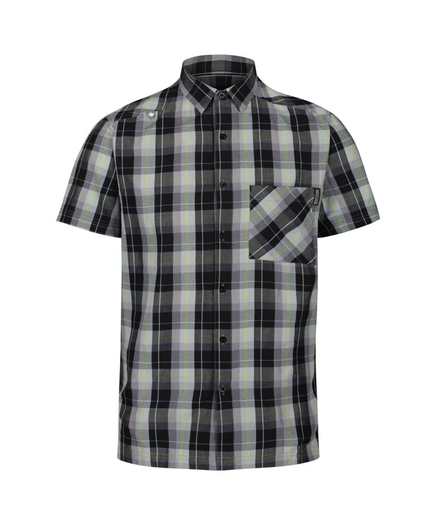 Image for Regatta Mens Kalambo V Short Sleeved Checked Shirt