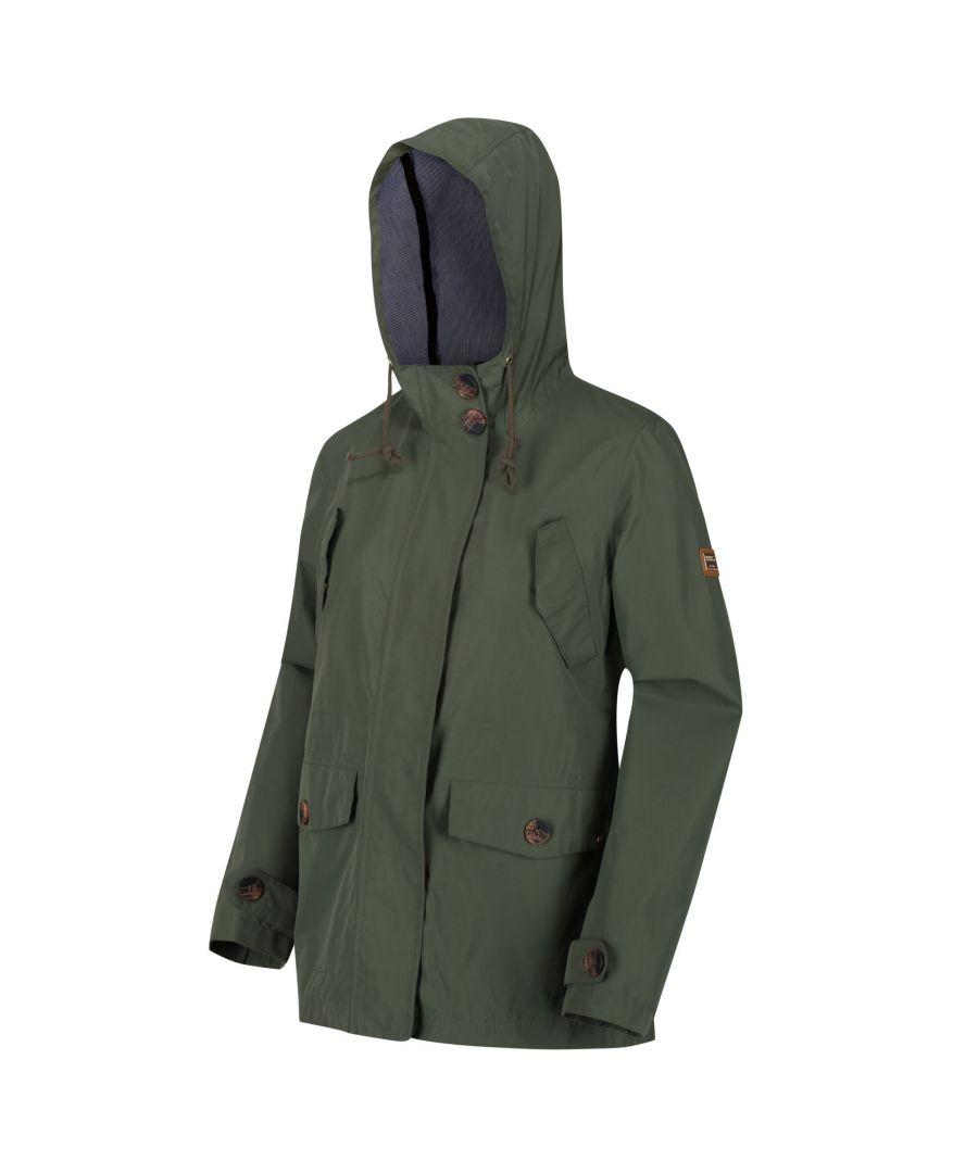 Image for Regatta Womens/Ladies Ninette Waterproof Jacket (Thyme Leaf)