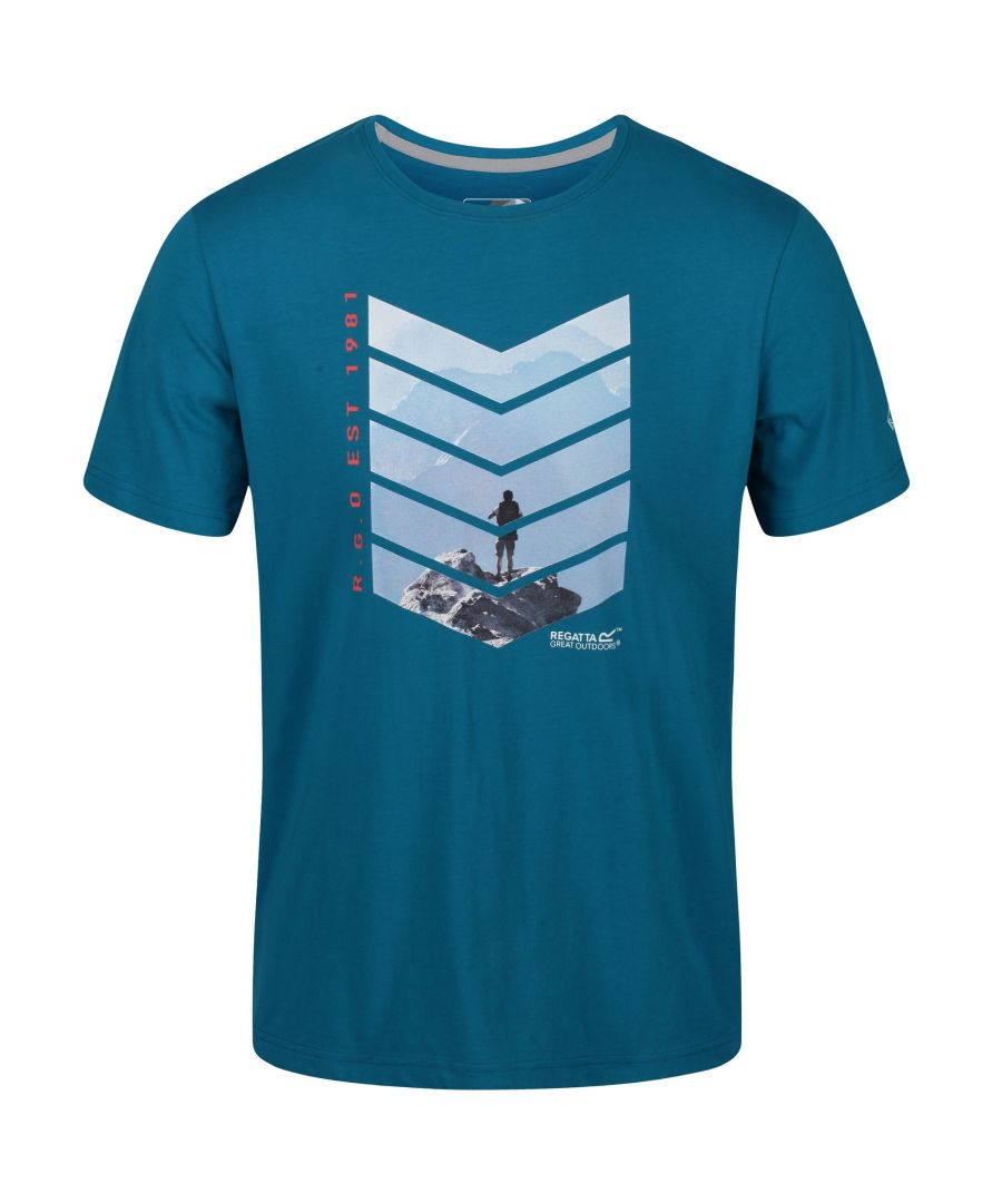 Image for Regatta Mens Breezed Graphic T-Shirt