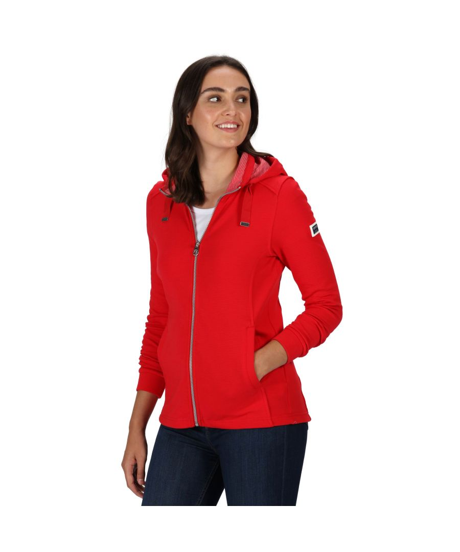 Image for Regatta Womens/Ladies Ramana Full Zip Hooded Fleece (True Red)