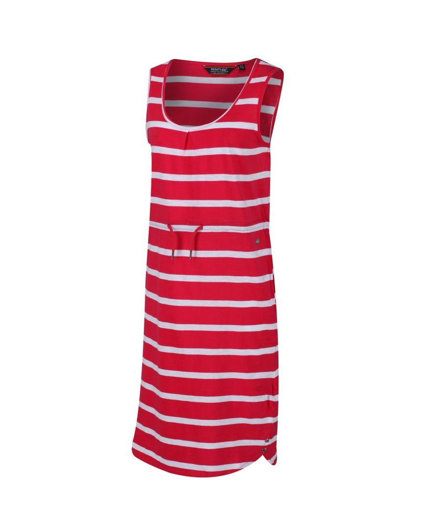 Image for Regatta Womens/Ladies Felixia Striped Sleeveless Dress (Virtual Pink)