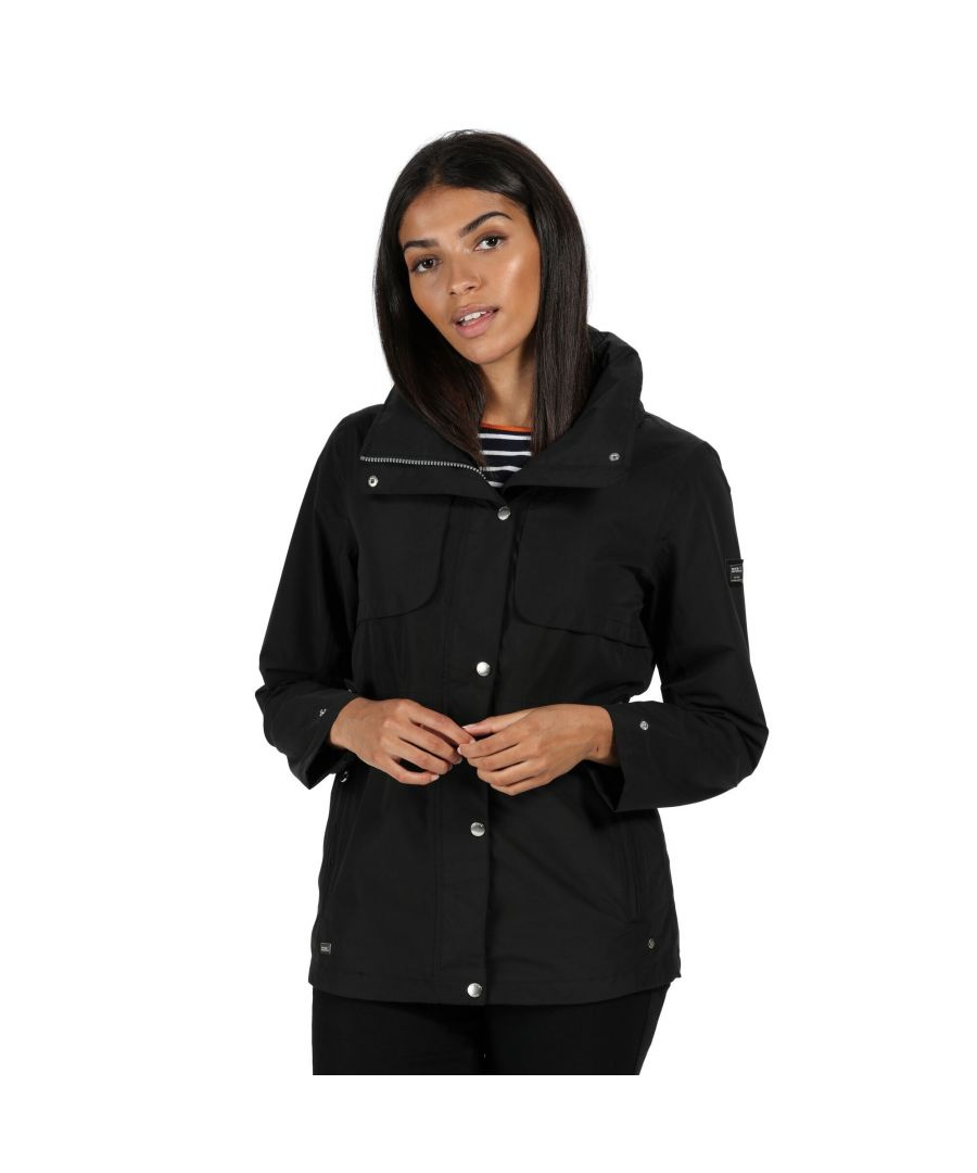 Image for Regatta Womens/Ladies Narelle Waterproof Funnel Neck Jacket