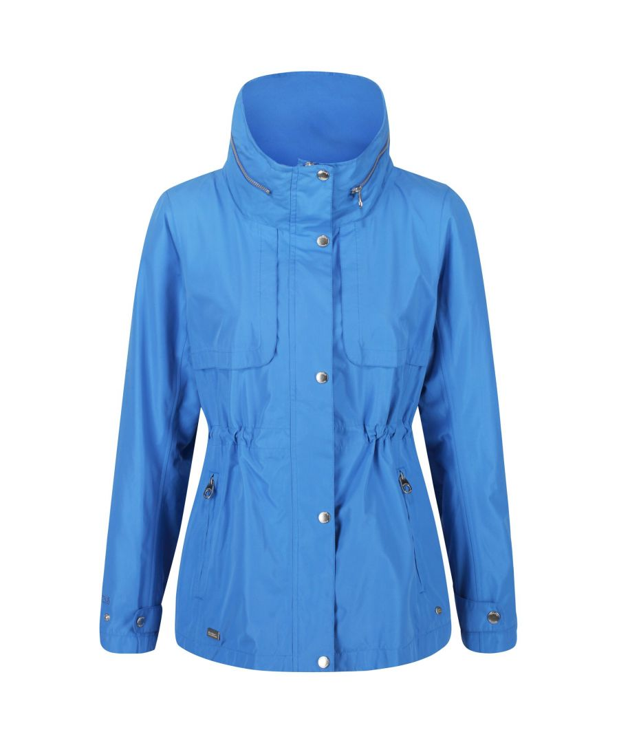 Image for Regatta Womens/Ladies Narelle Waterproof Funnel Neck Jacket (Blue)