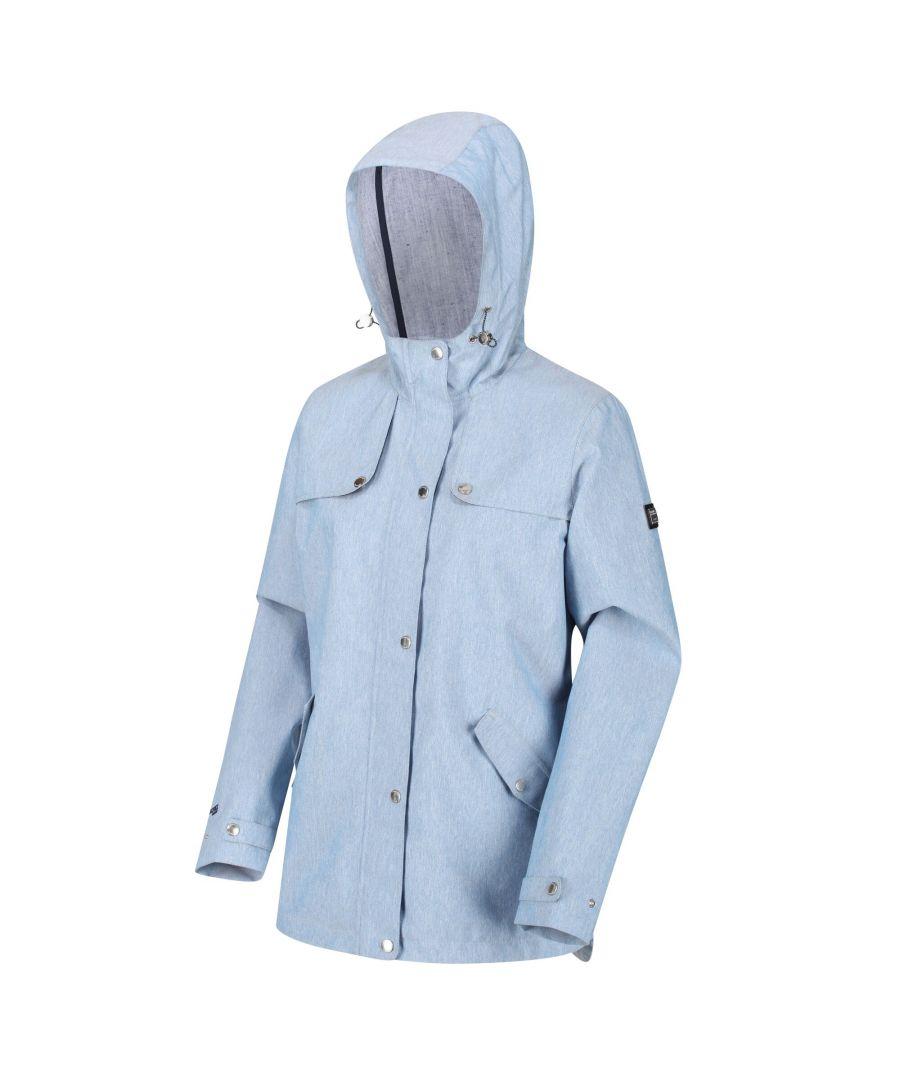 Image for Regatta Womens/Ladies Bertille Waterproof Jacket (Chambray)