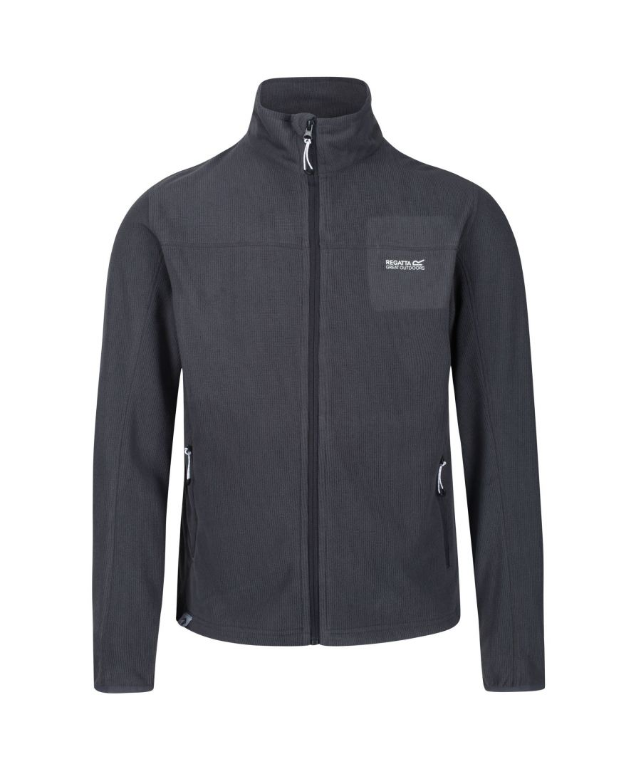 Image for Regatta Mens Stanner Full Zip Lightweight Fleece (Seal Grey)