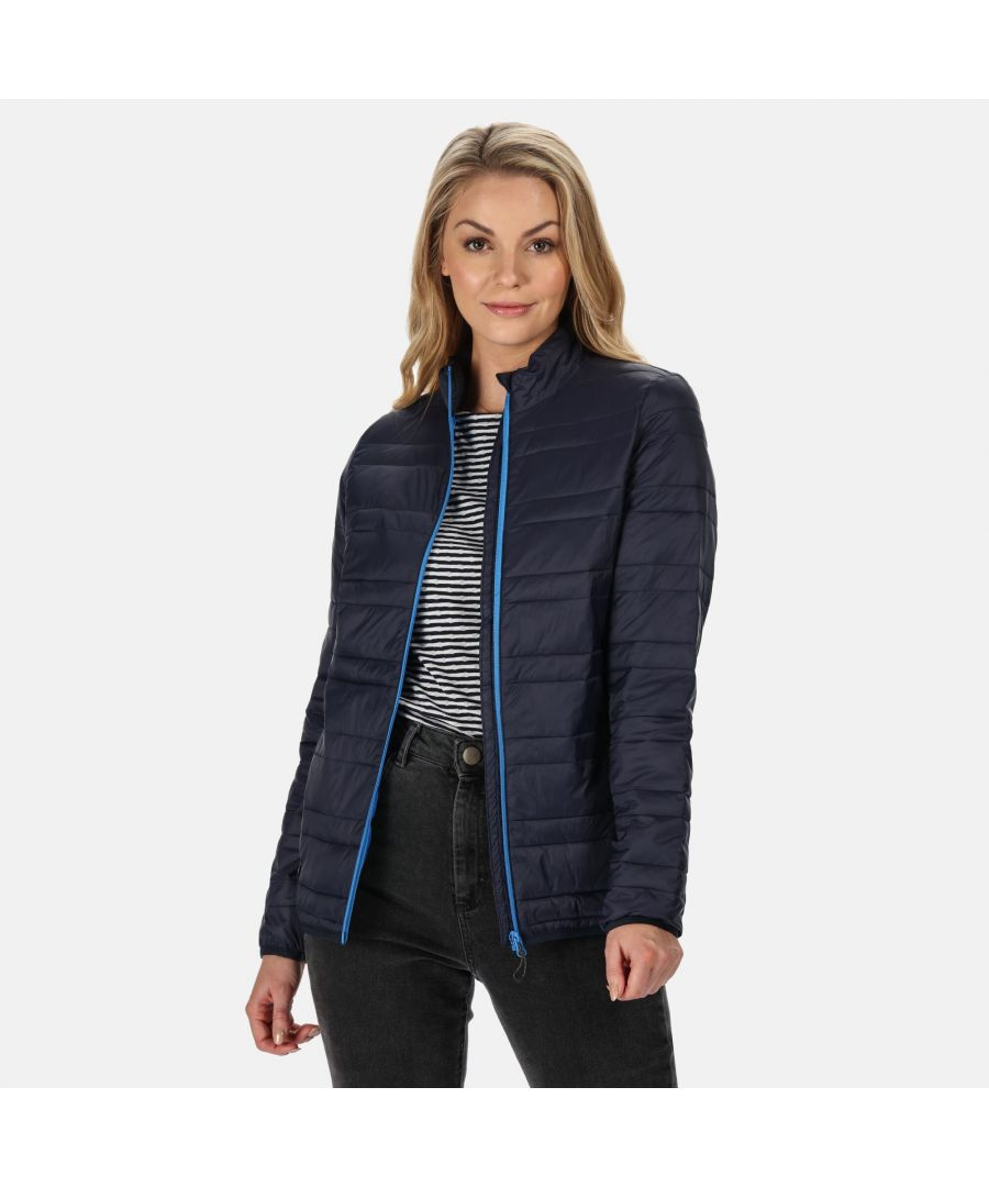 Image for Regatta Womens/Ladies Firedown Baffled Quilted Jacket (Navy/French Blue)