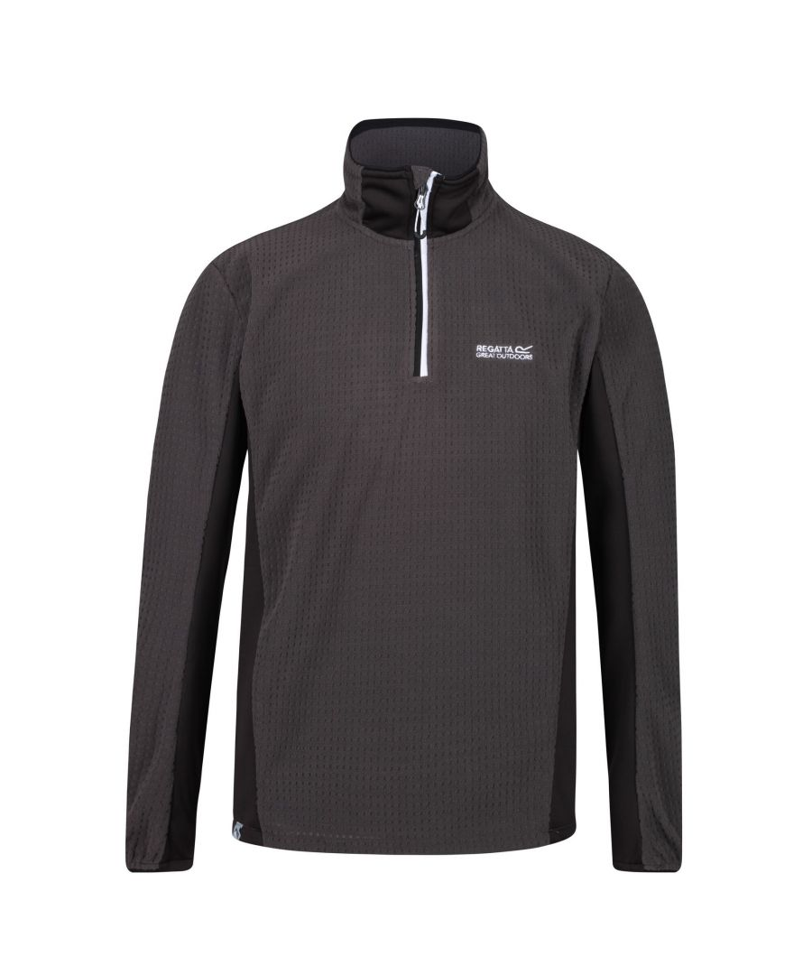 Image for Regatta Mens Boswell Half Zip Grid Fleece