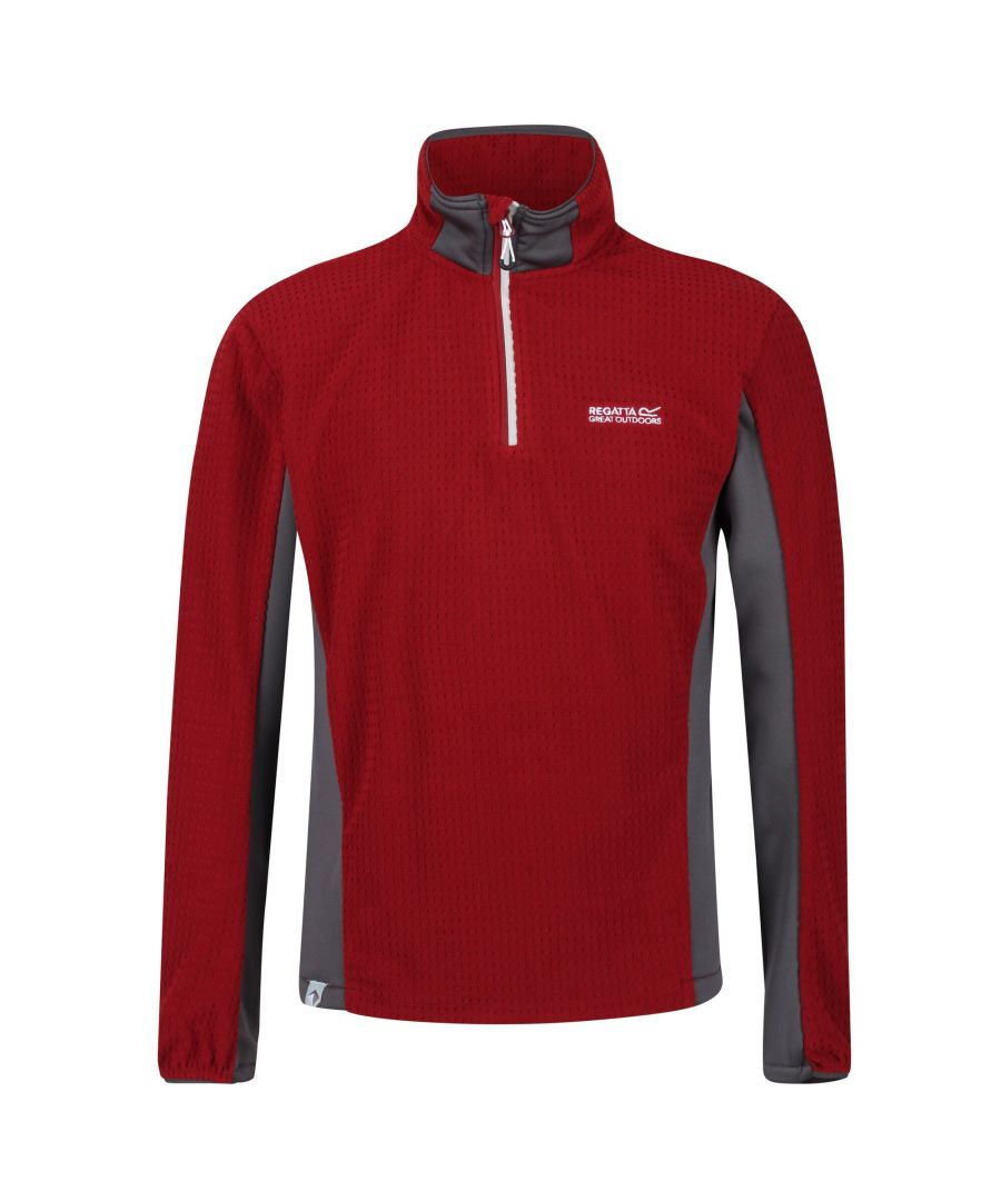 Image for Regatta Mens Boswell Half Zip Grid Fleece