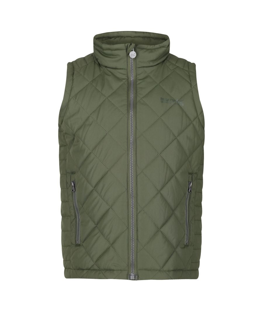 Image for Regatta Childrens/Kids Zion Quilted Insulated Gilet (Racing Green)