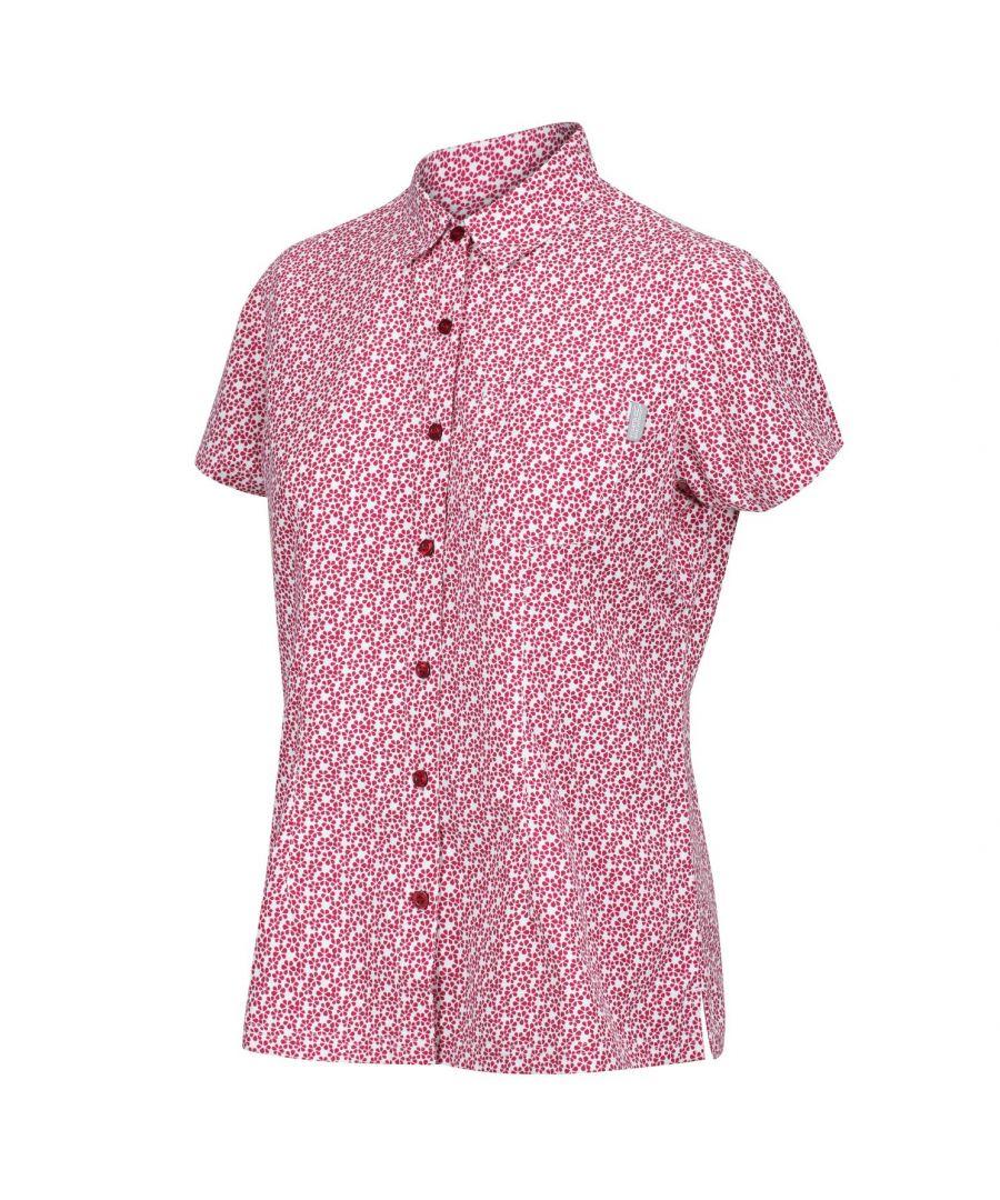 Image for Regatta Womens/Ladies Mindano V Short Sleeved Shirt (Dark Cerise)
