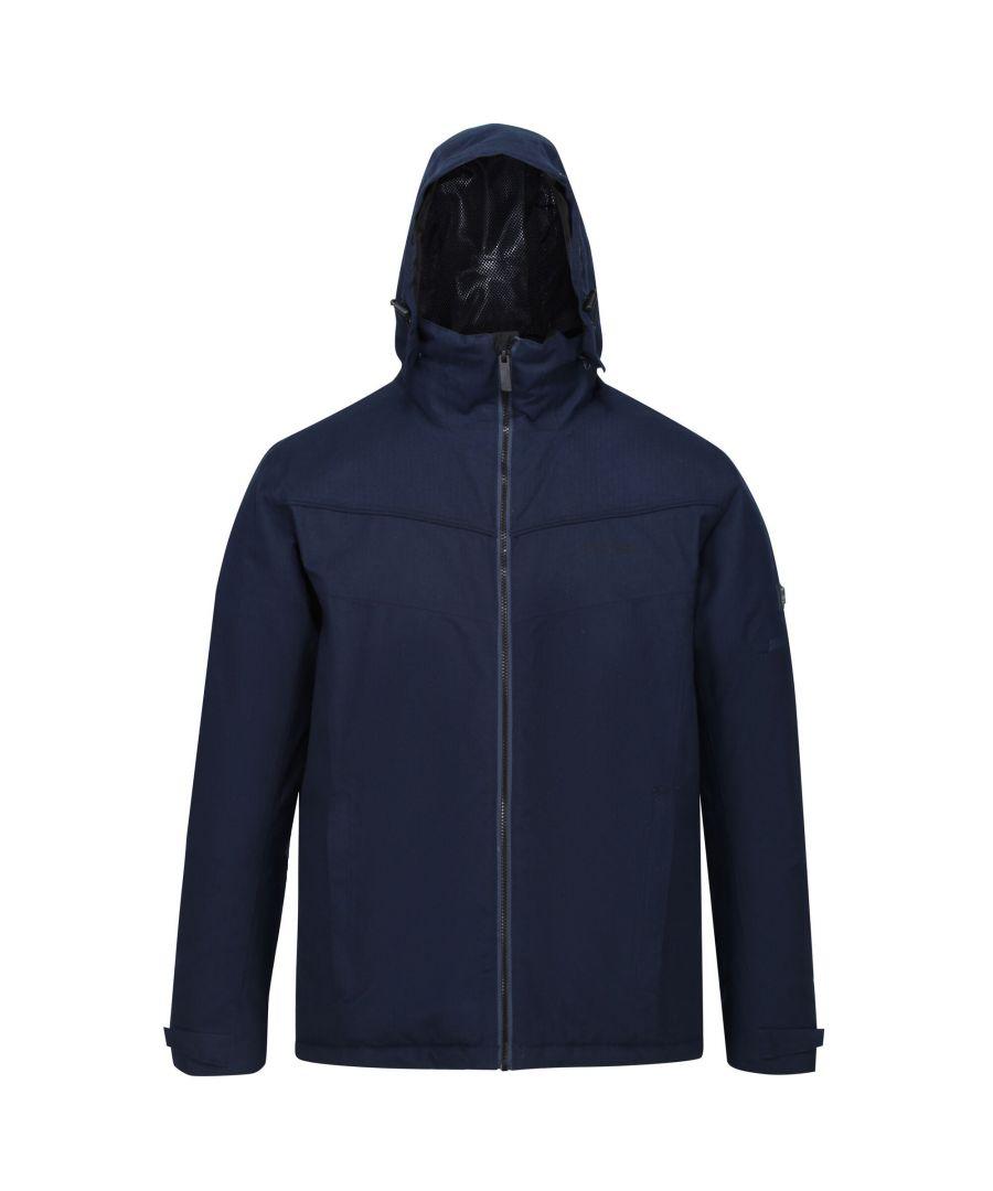 Image for Regatta Mens Highside Insulated Waterproof Jacket (Nightfall Navy)