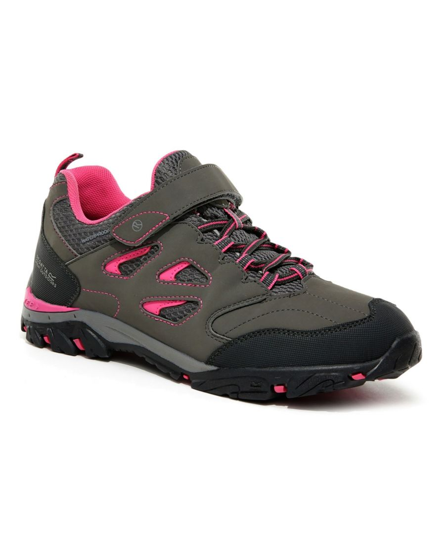 Image for Regatta Childrens/Kids Holcombe IEP Walking Shoes (Light Steel/Tulip Pink)