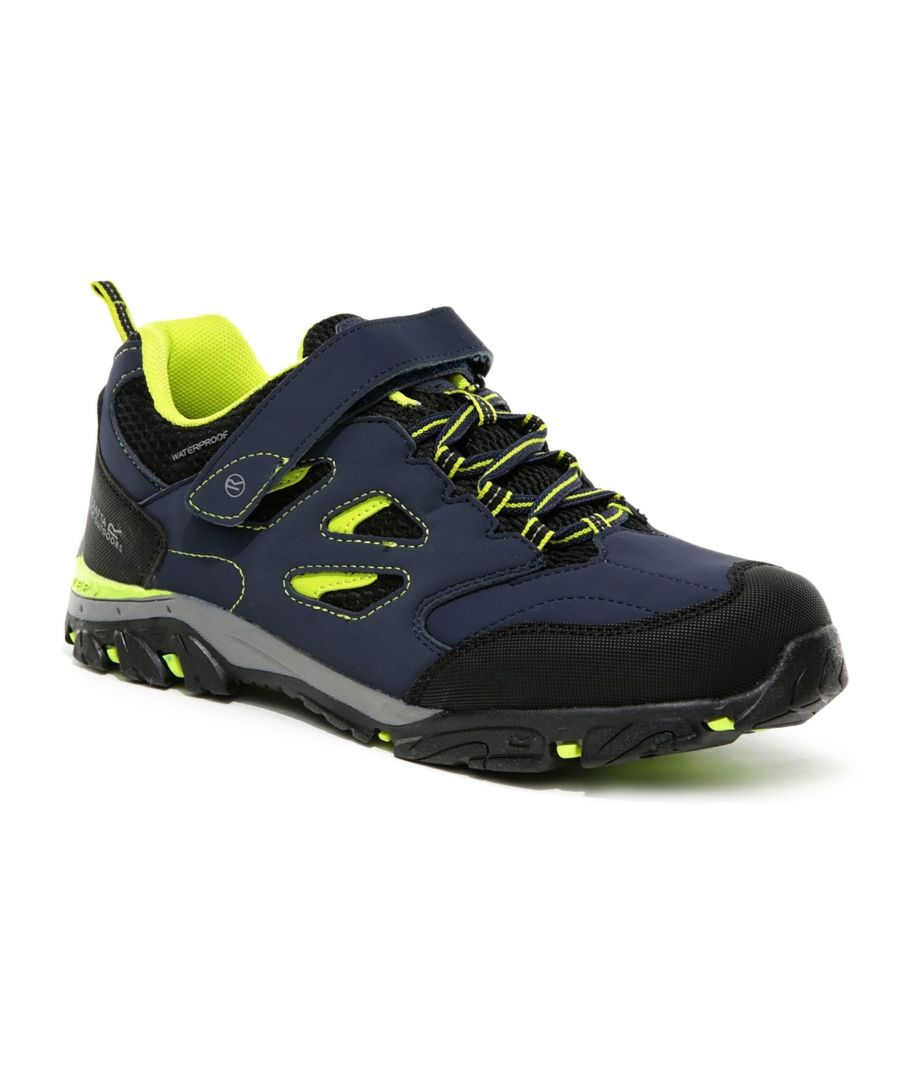 Image for Regatta Childrens/Kids Holcombe IEP Walking Shoes (Navy/Lime Punch)