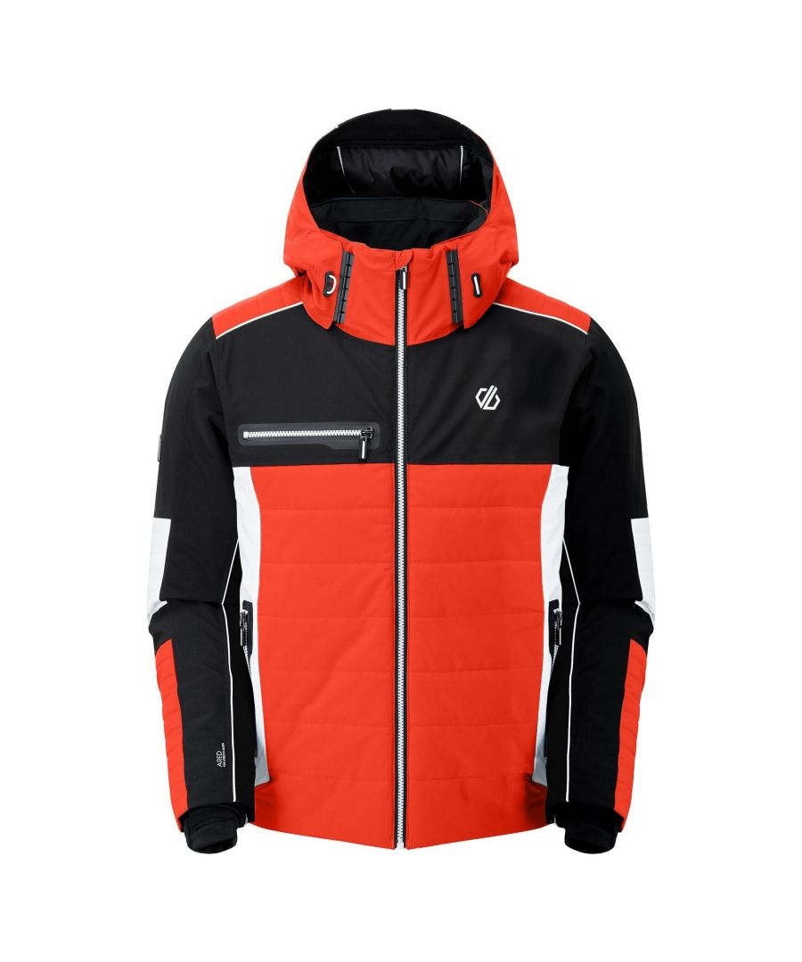 Image for Dare 2B Mens Out Force Insulated Ski Jacket (Trail Blaze Red/Black/White)