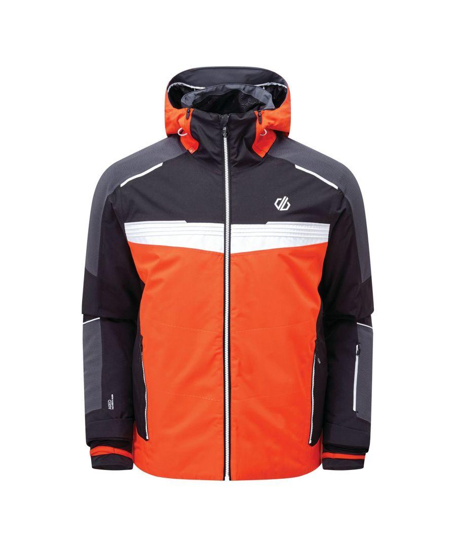 Image for Regatta Mens Below Zero Insulated Ski Jacket (Trail Blaze Red/Black/White)