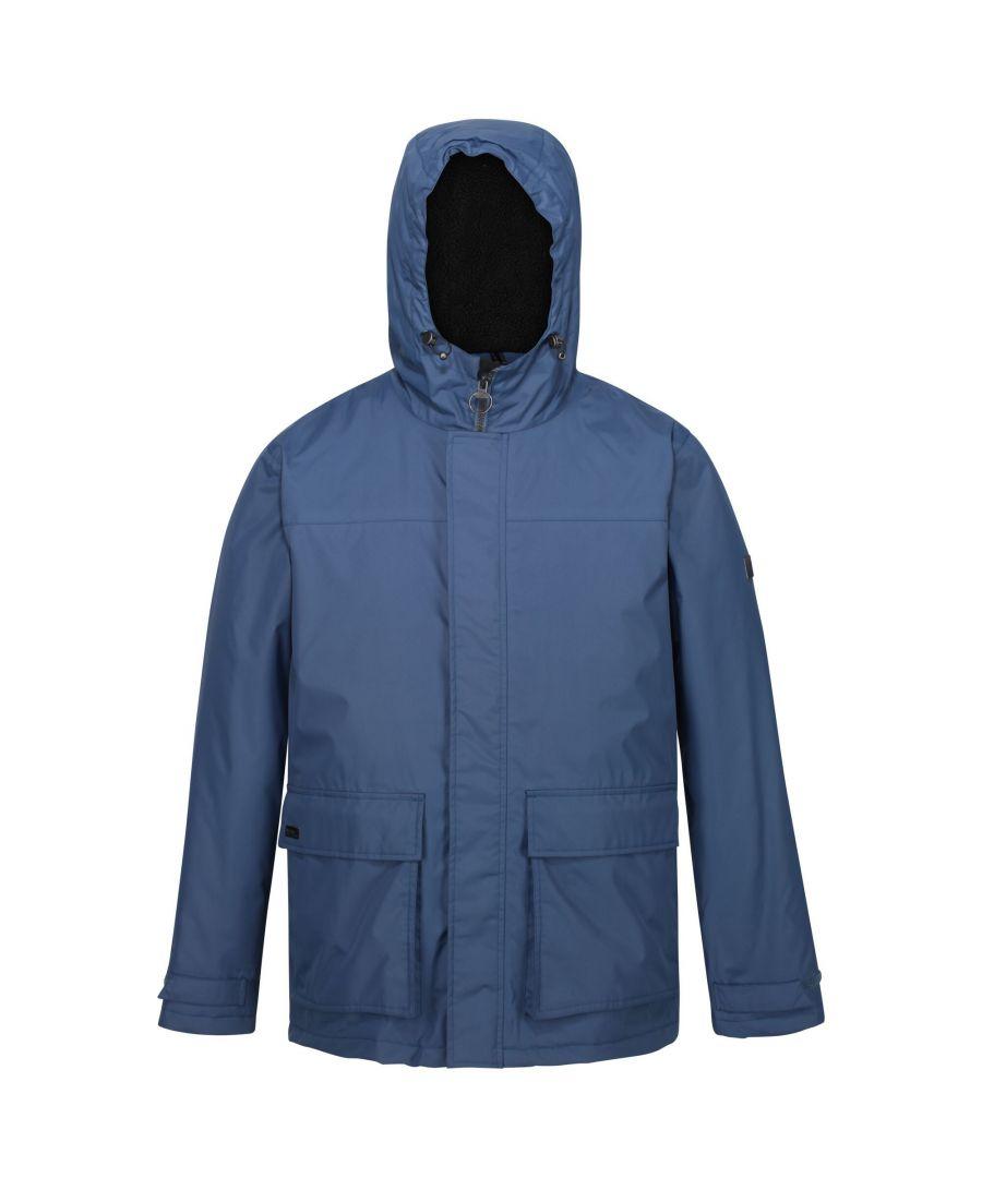Image for Regatta Mens Sterlings II Waterproof Jacket (Dark Denim)