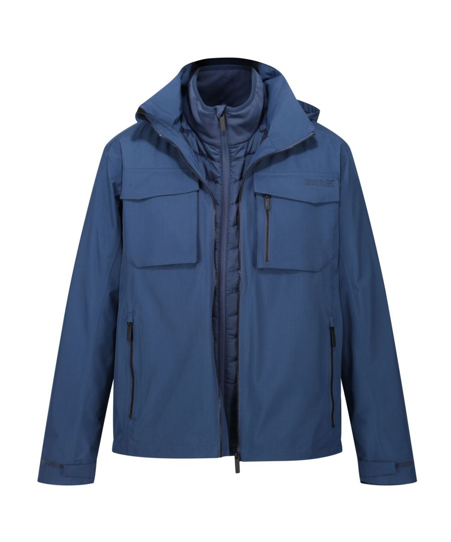 Image for Regatta Mens Shrigley Waterproof Jacket (Brunswick Blue)