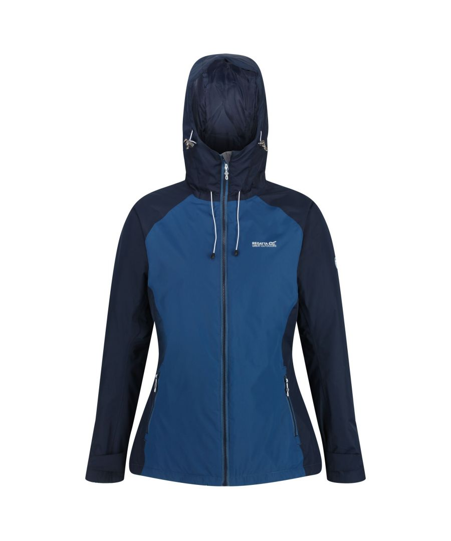 Image for Regatta Womens/Ladies Voltera Protect Insulated Waterproof Jacket (Blue Opal/Navy)