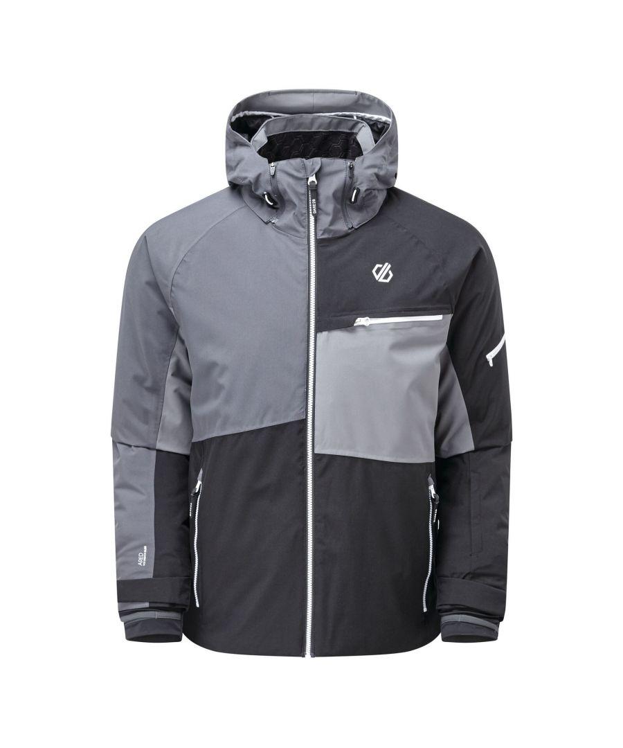 Image for Dare 2B Mens Supercell Waterproof Ski Jacket (Black/Ebony Grey)