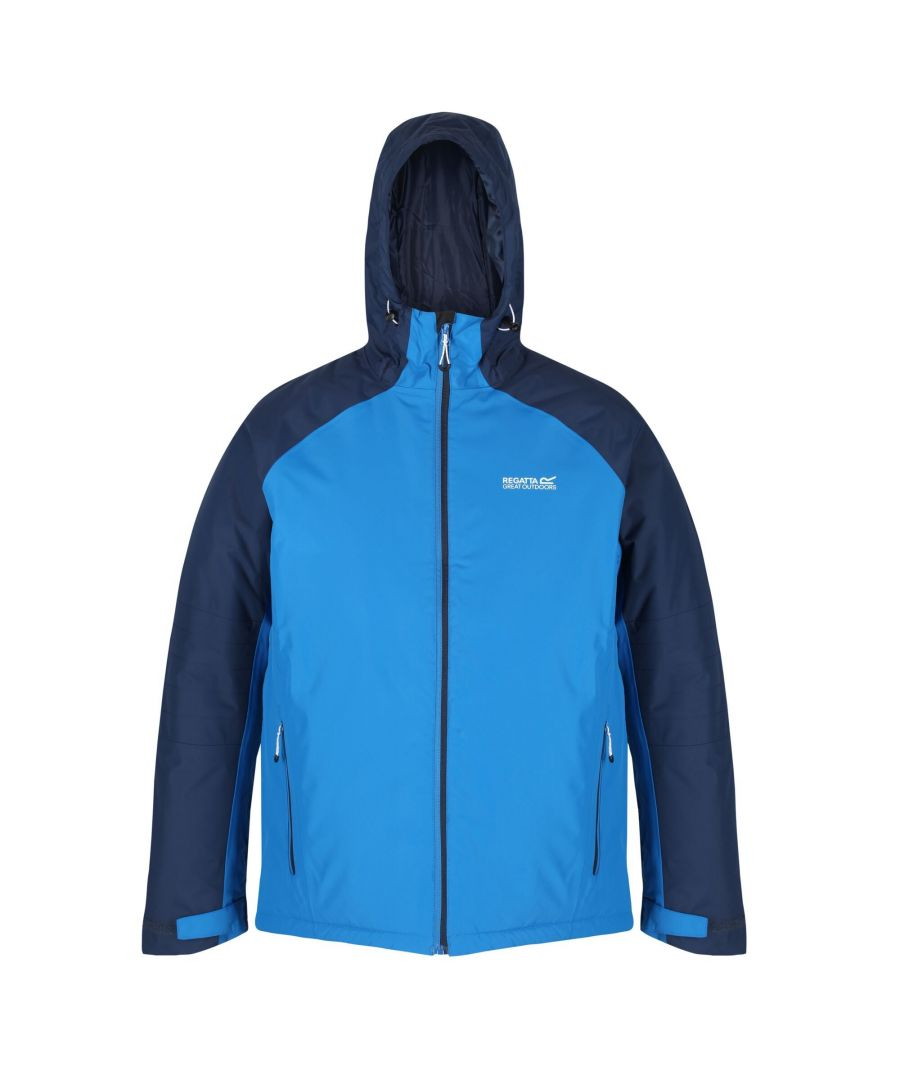 Image for Regatta Mens Volter Protect Insulated Waterproof Jacket (Imperial Blue/Nightfall Navy)