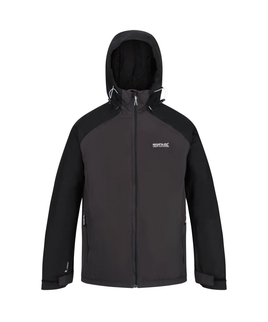 Image for Regatta Mens Volter Protect Insulated Waterproof Jacket (Ash/Black)