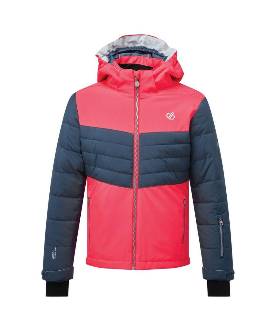 Image for Dare 2B Childrens/Kids Freeze Up Insulated Ski Jacket (Neon Pink/Dark Denim)