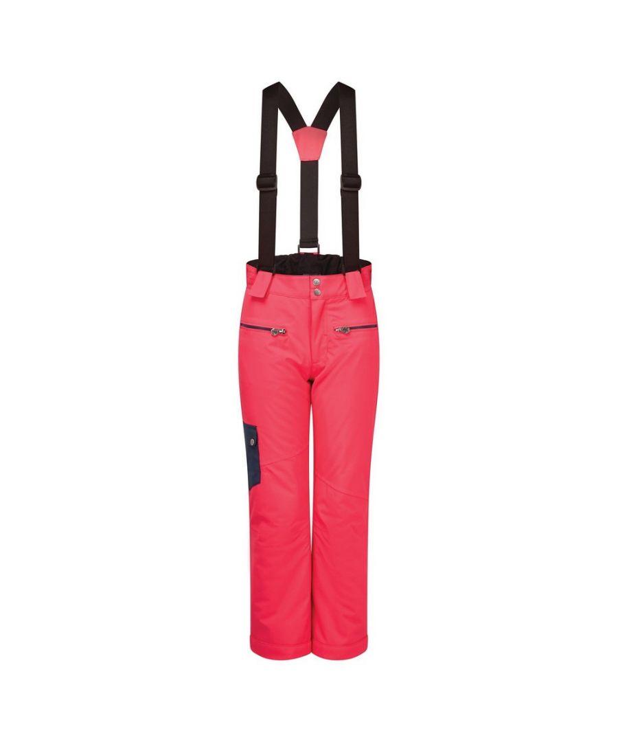 Image for Dare 2B Childrens/Kids Timeout II Ski Trousers (Neon Pink/Dark Denim)