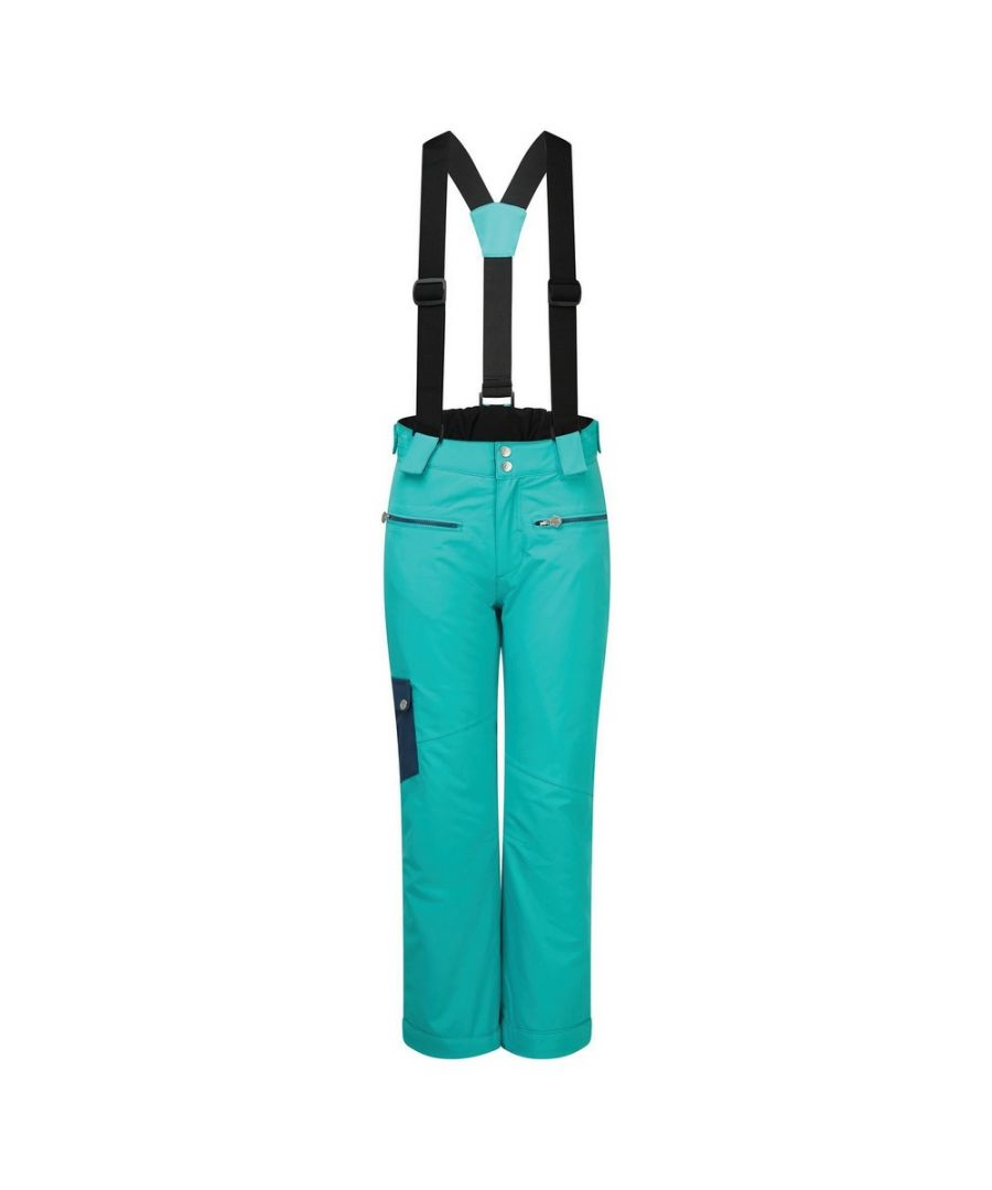 Image for Dare 2B Childrens/Kids Timeout II Ski Trousers (Turquoise/Dark Denim)
