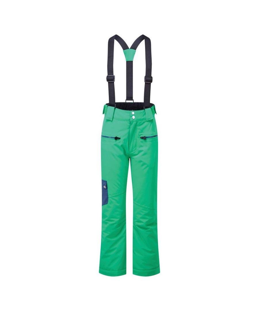 Image for Dare 2B Childrens/Kids Timeout II Ski Trousers (Vivid Green/Dark Denim)