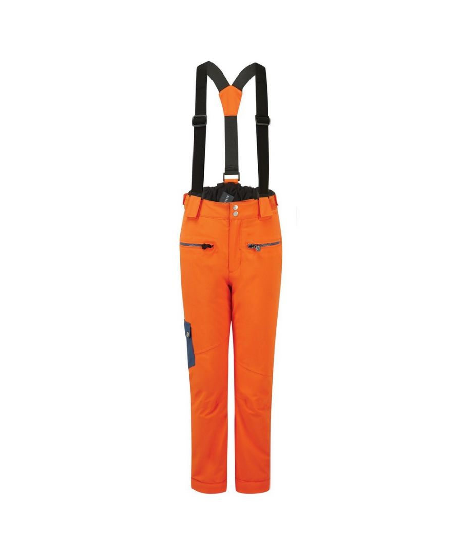 Image for Dare 2B Childrens/Kids Timeout II Ski Trousers (Blaze Orange/Dark Denim)