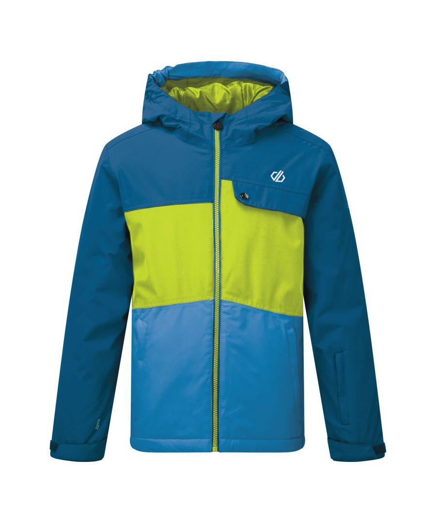 Image for Dare 2B Childrens/Kids Enigmatic Ski Jacket (Petrol Blue/Lime Punch)