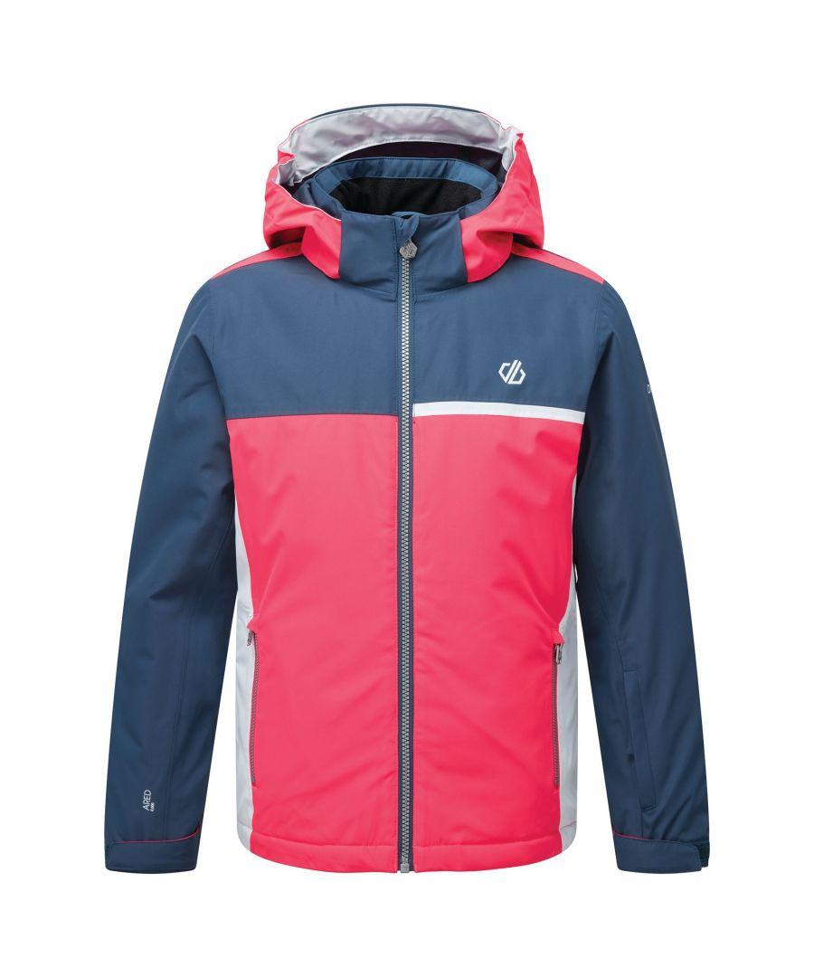 Image for Dare 2B Childrens/Kids Depend Insulated Ski Jacket (Dark Denim/Neon Pink)