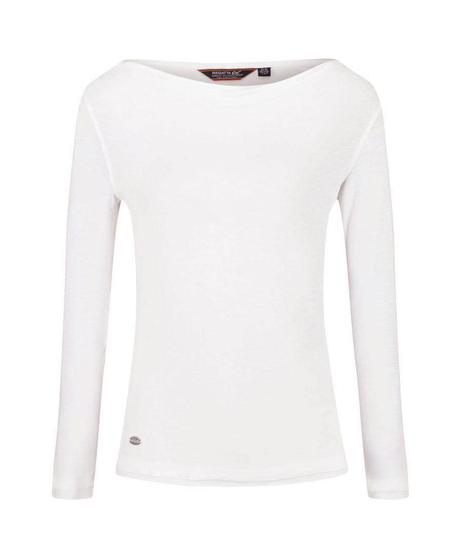 Image for Regatta Womens/Ladies Frayler T-Shirt (White)