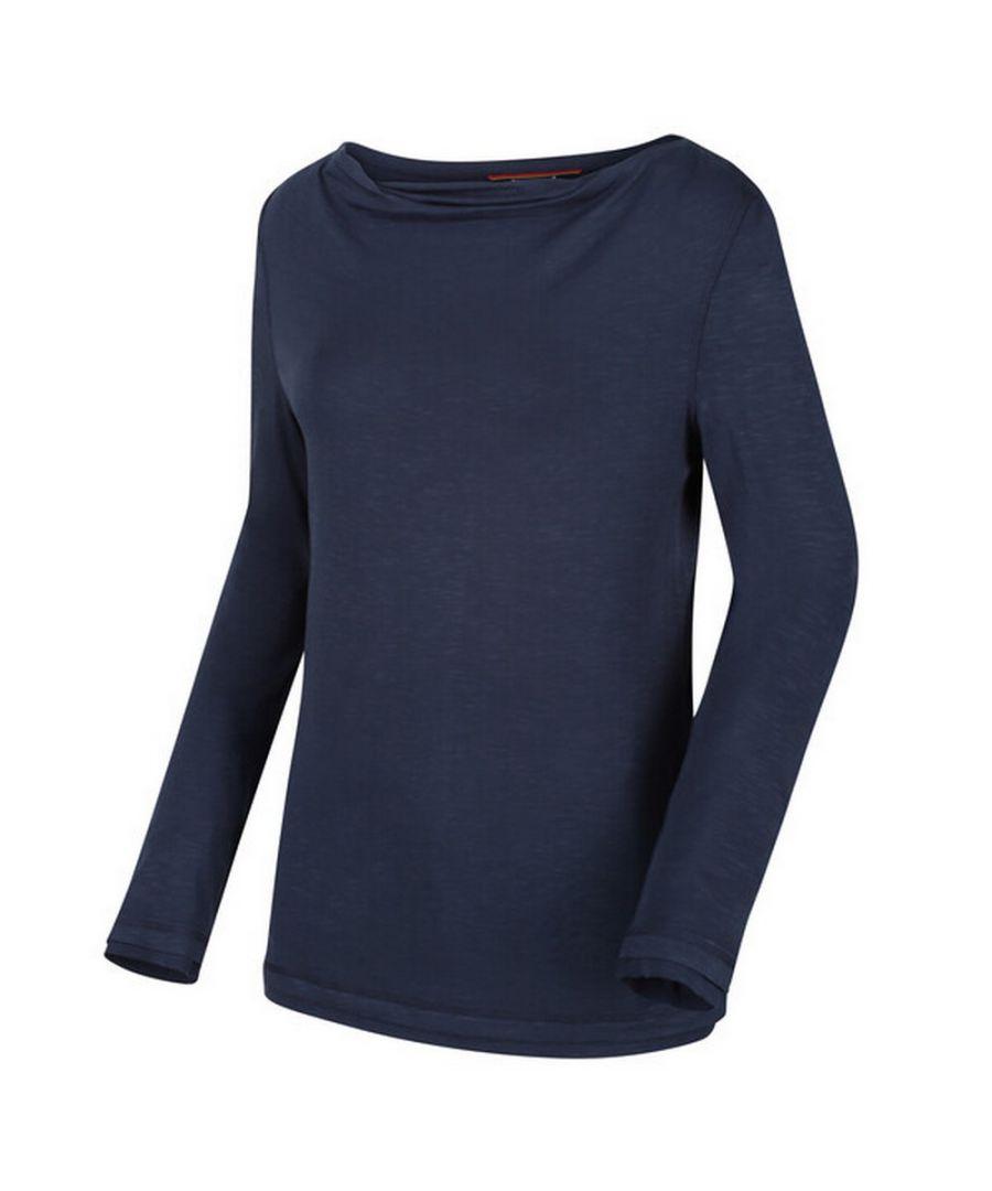 Image for Regatta Womens/Ladies Frayler T-Shirt (Navy)