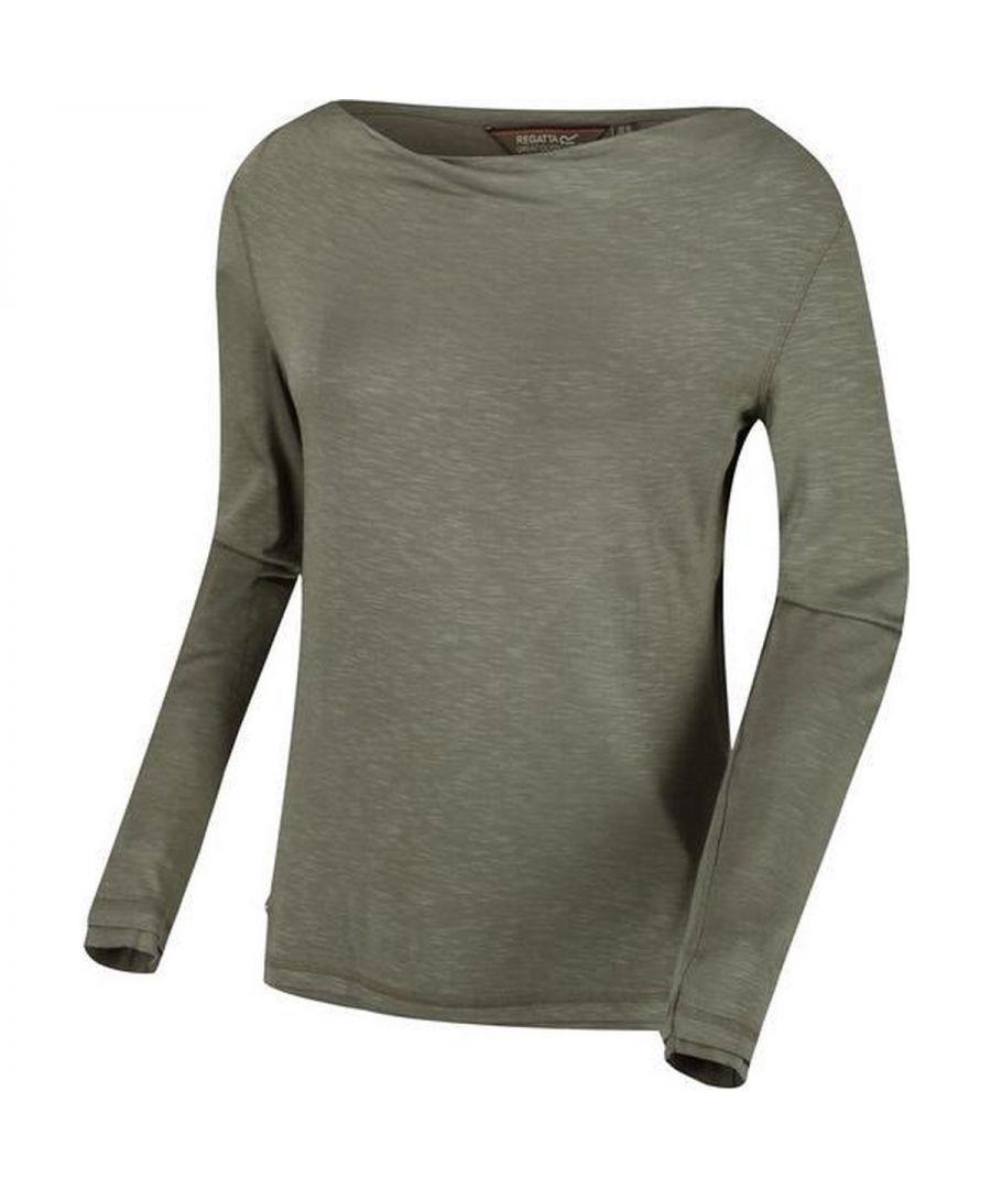 Image for Regatta Womens/Ladies Frayler T-Shirt (Thyme Green)