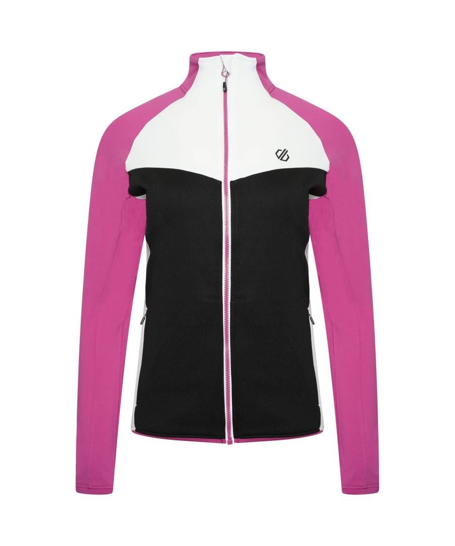 Image for Dare 2B Womens/Ladies Soft Shell Jacket (Black/Active Pink)