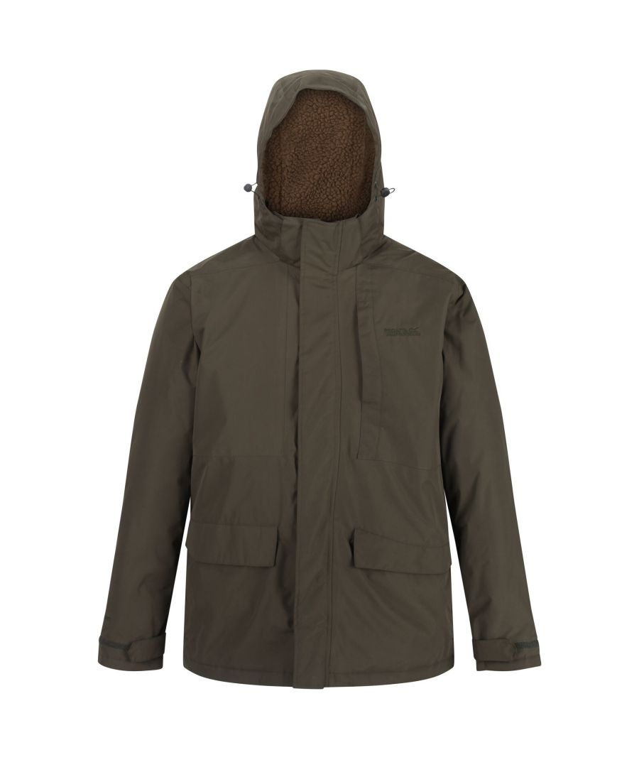 Image for Regatta Mens Penryn Waterproof Jacket (Dark Khaki)