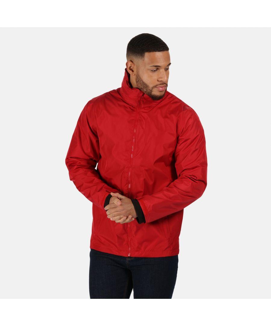 Image for Regatta Mens Classic Waterproof Jacket (Classic Red/Black)