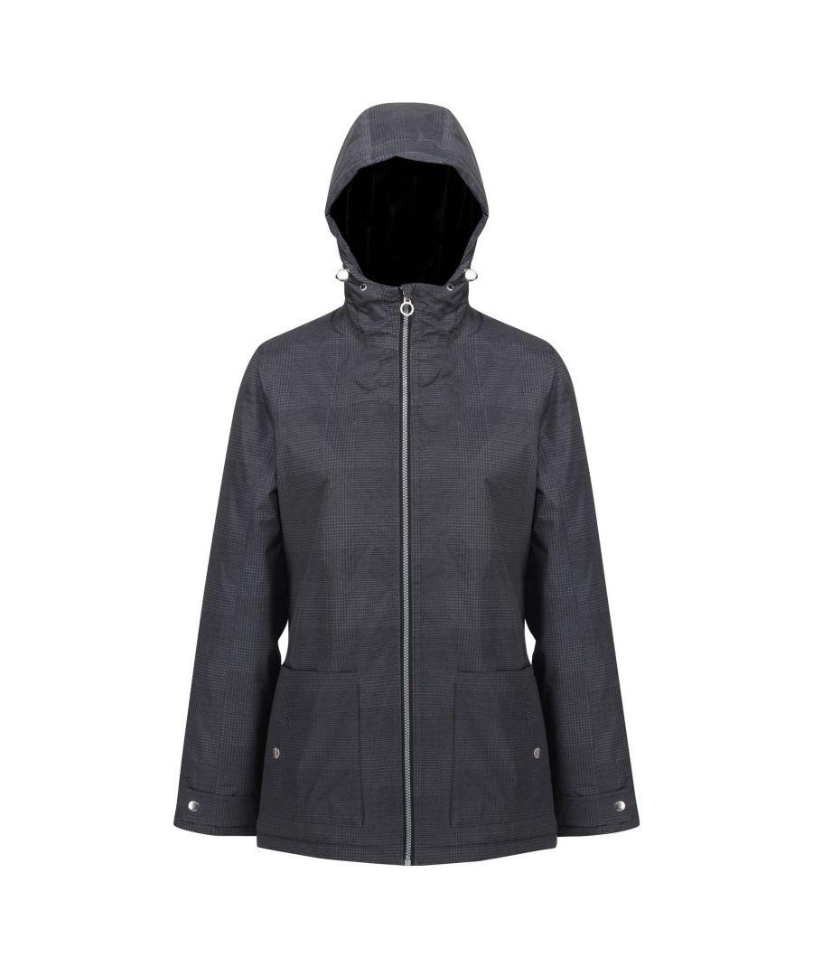 Image for Regatta Womens/Ladies Bergonia II Hooded Waterproof Jacket (Lead Grey)