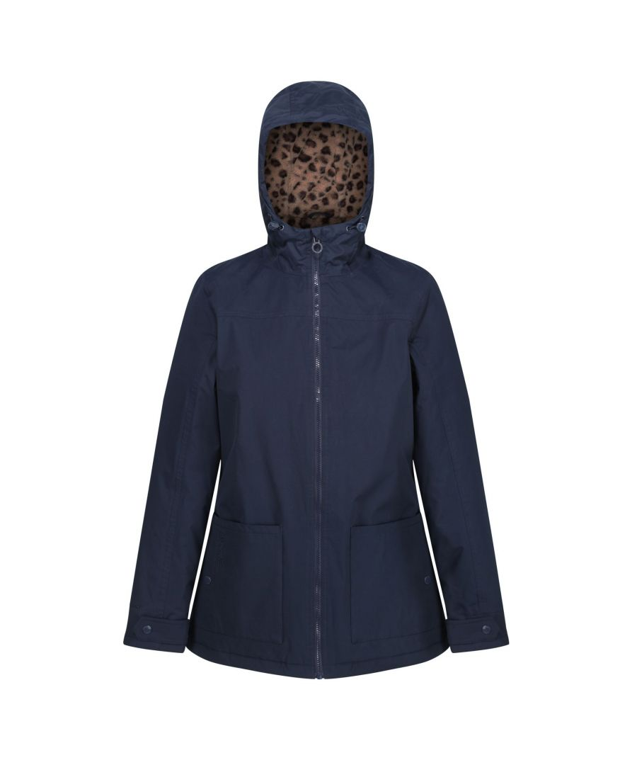 Image for Regatta Womens/Ladies Bergonia II Hooded Waterproof Jacket (Navy)