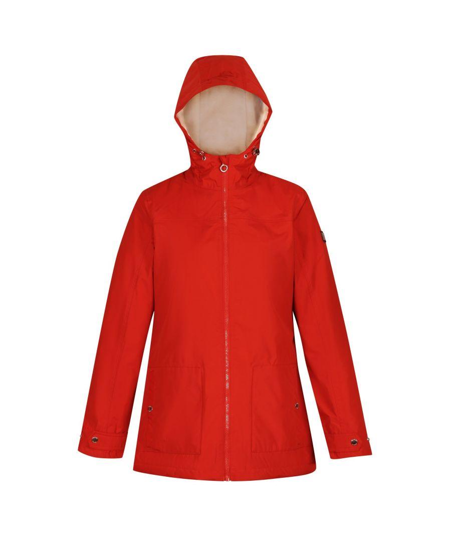 Image for Regatta Womens/Ladies Bergonia II Hooded Waterproof Jacket (Burnt Tikka Red)