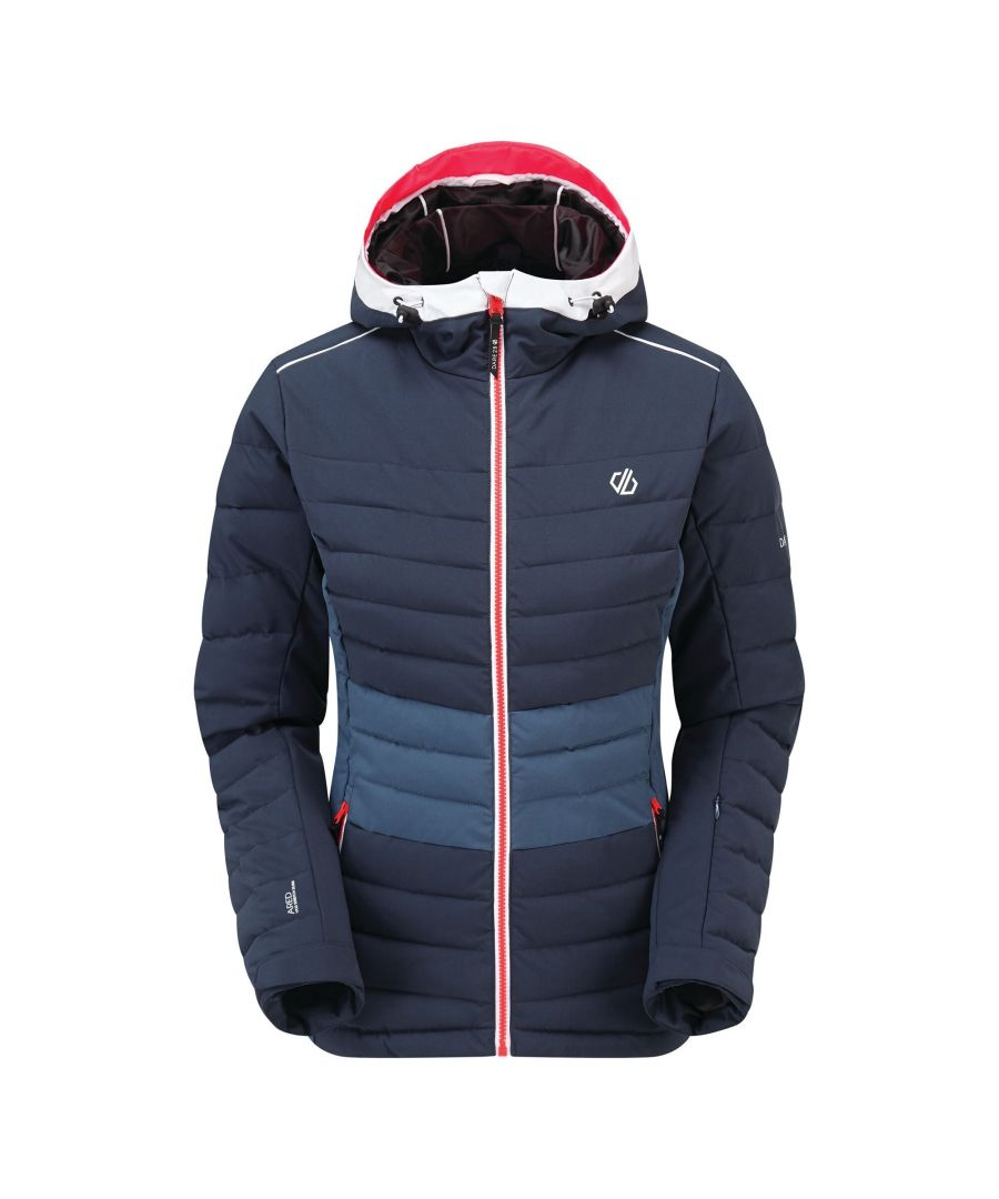 Image for Dare 2B Womens/Ladies Succeed Quilted Ski Jacket (Nightfall Navy/Dark Denim)